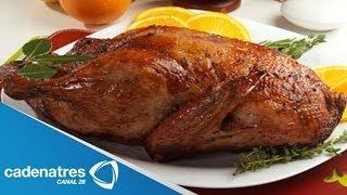 Receta para preparar pavo rostizado con col morada braceada /Pavo navideño