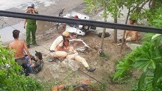 Truy đuổi xe máy, cảnh sát cùng nạn nhân nhập viện tại Thanh Hóa
