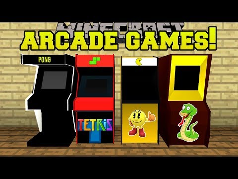 Minecraft ARCADE GAMES PACMAN & PONG MACHINES WITH PRIZES Mod Showcase