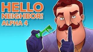 SECRET GREEN KEY! THIS IS AMAZING! (Hello Neighbor Alpha 4 Secret)