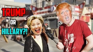 Trump and Hillary Voters GET TROLLED!