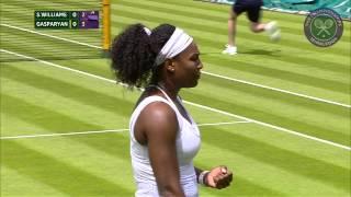 2015 Day 1 Highlights, Serena Williams vs Margarita Gasparyan