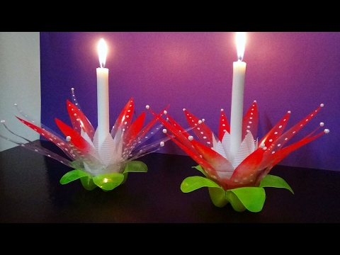 Xxx Mp4 DIY How To Make A Candle Light Stand With Waste Plastic Bottles Best Use Of Waste 3gp Sex