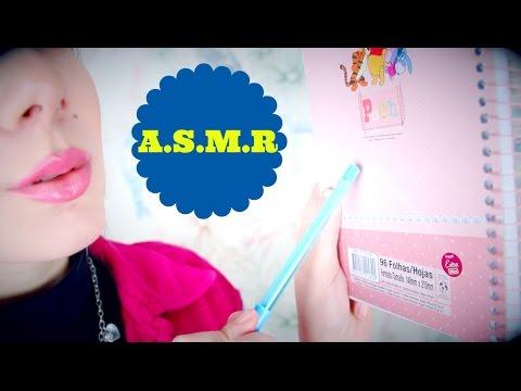 ASMR (Português): Tapping, Mouth Sounds, Luvas, Água, Whisper ~ VIDEO PARA DAR SONINHO