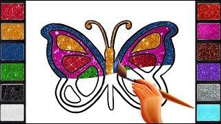 رسم وتلوين وتعلم الالوان للاطفال/ لعب ومرح وتلوين مع الفراشة / drawing & coloring butterfly for kids