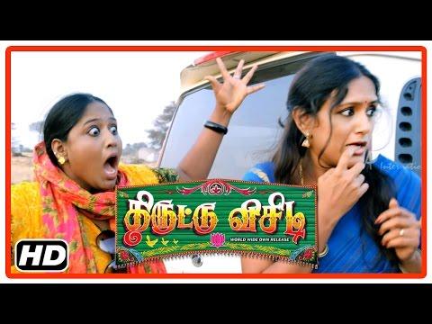 Thiruttu VCD Tamil Movie   Scenes   Reethu saves Devadarshini   Prabha   Sakshi Agarwal