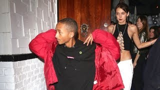 Jaden Smith Is Asked About Boyfriend Tyler The Creator As He Parties With Cute Brunette