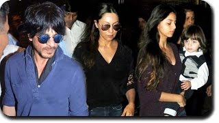 Shahrukh Khan's Daughter Suhana Carries AbRam At The Airport