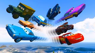 Cars Party McQueen Finn McMissile Sarge Snot Rod Ramone Grem Tomber Trunkov Videos for Kids Songs