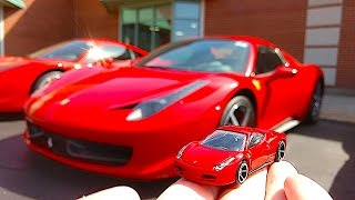 Hot Wheels Ferrari Meets Real Ferrari