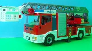 Fire trucks for children & kids - Fire Truck 🚒 Toys responding - Playmobil Video for children