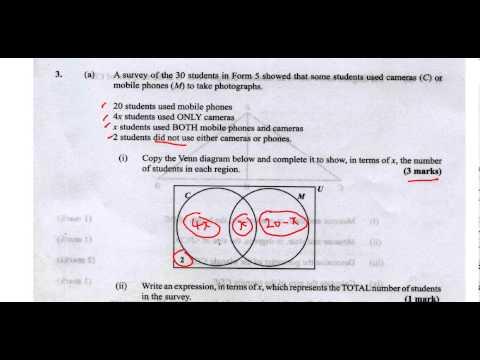 Xxx Mp4 CSEC CXC Maths Past Paper 2 Question 3a May 2013 Exam Solutions ACT Math SAT Math 3gp Sex
