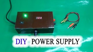 How to make Adjustable Voltage Power Supply Simple IC LM317