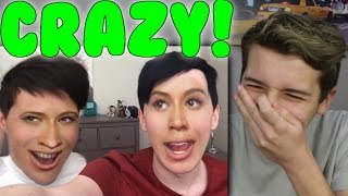 Dan and Phil Face Swap Challenge Reaction