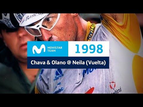 Chava y Olano, en Neila (Vuelta 98) - 'Nuestro Ciclismo, Por Un Equipo'