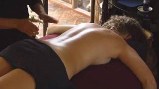 Back Massage with Oil, How to Massage by Athena Jezik Massage Therapy Techniques ASMR Massage
