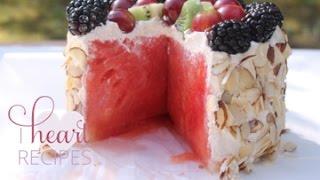 Fresh Watermelon Cake - I Heart Recipes