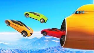 EXTREME CARS vs. PLANE RACE! (GTA 5 Funny Moments)