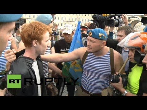 Xxx Mp4 Russia Gay Activist Is Attacked By Paratroopers On National Holiday 3gp Sex