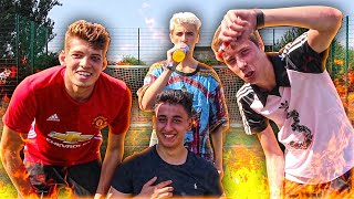 FLAMING HOT SAUCE FOOTBALL PENALTY CHALLENGE