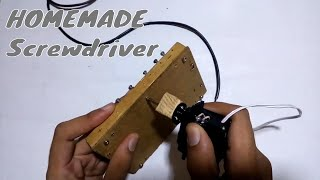 Homemade Electric Screwdriver | Electronic Projects