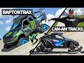 Ken Block Drag Races his Tracked Can-Am Maverick vs the Ford RaptorTRAX!