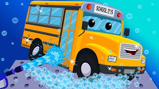 School Bus Car Wash | Toy Car Wash | Games for Kids | Video for Toddlers