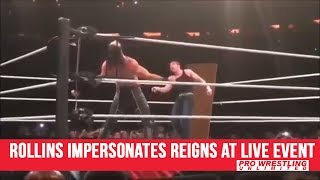 Seth Rollins Impersonates Roman Reigns At Live Event (VIDEO)