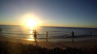 Sun Set Beach Time Lapse Perth Western Australia