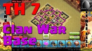 Clash of Clans: Town Hall 7 Clan War Base