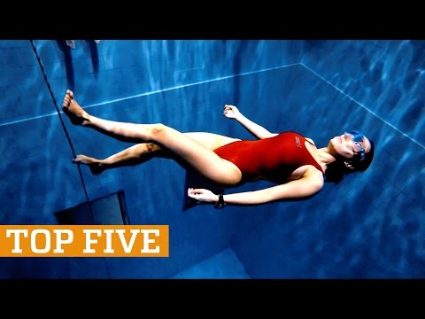 TOP FIVE Deep Pool Freediving Skiing & Martial Arts PEOPLE ARE AWESOME 2017