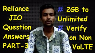 Reliance Jio 4G Sim | 2GB to Unlimited 4G Data | Verify on Non VoLTE