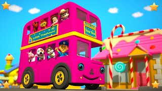 Pink Wheels On The Bus | Kindergarten Nursery Rhymes & Songs for Kids | Little Treehouse S03E103