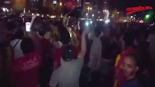 فرحة أحباء الترجي في شوارع الدوحة