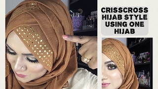 Crisscross Hijab style with single hijab | Styline collection