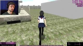 NAKED ROOF TOSS   Yandere Simulator #2