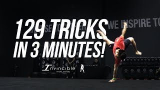 129 TRICKS IN 3 MINUTES | INVINCIBLE WORLDWIDE