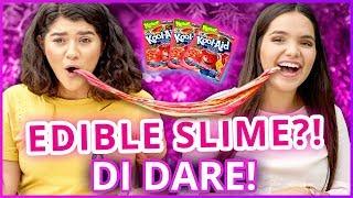 DIY EDIBLE SLIME?! Di-Dare w/ Shany & Airam from My Dream Quinceañera!