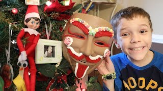 Elf on the Shelf Found the Gingerbread Man's Mask!  Another Secret Mystery Lock Unlocked!