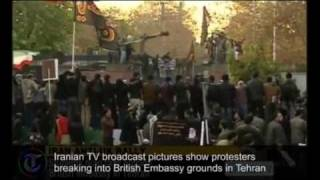 Iranian TV shows protesters storming British Embassy in Tehran