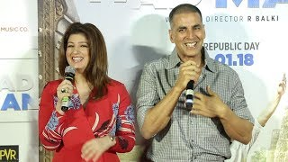 Akshay Kumar & Twinkle Khanna's FUNNY Moments At Padman Song Aaj Se Teri Launch