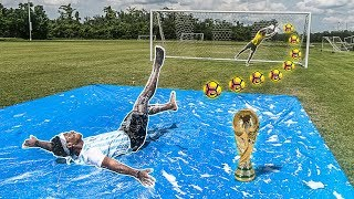 I WON THE WORLD CUP! (SLIP AND SLIDE PENALTY KICKS)
