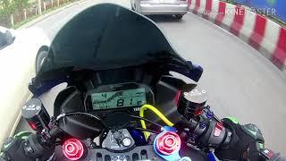 Yamaha R15 ล้างรถได้แปปเดียวฝนตกซะงั้น(คลิปยาว)