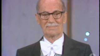 Groucho Marx receiving an Honorary Oscar®