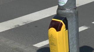 Freundlicher Fußgängerüberweg mit sprechender Ampel