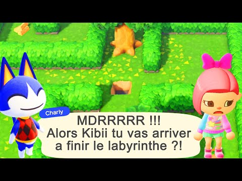C EST PARTI pour L'ESCAPADE LABYRINTHE du 1er MAI ANIMAL CROSSING NEW HORIZONS ACNH FR