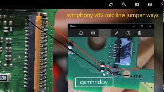 Symphony V85 Mic/Tuch line Jumper Solution By Gsmhridoy