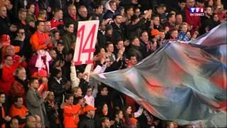 Pays-Bas - France : l'hommage à Johan Cruyff à la 14e minute