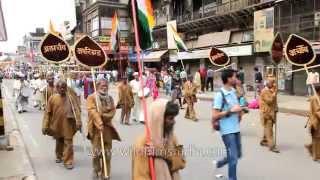 Mahavir Jayanti procession on the street of Chandni Chowk