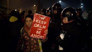 """لليوم الخامس الاحتجاجات مستمرة ضدّ """"قانون العبيد"""" في المجر…"""